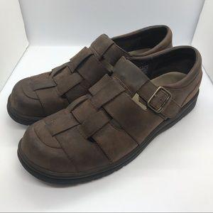 Teva Womens Leather Fisherman Sandal Sz 9.5 Brown